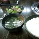 939581 - カルビ定食(サラダ・スープ)