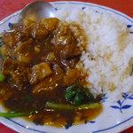 金燕閣 - 牛バラ丼(牛バラ丼&半ラーメンセット)