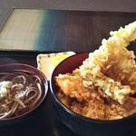 手打ちそば 福松 - 天丼小かけそば付き 1100円