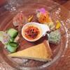 dilettante cafe - 料理写真:ランチのコース  1800円  前菜盛り合わせ