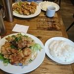 イタリア大衆食堂 堂島グラッチェ - 唐揚げ定食(680円)
