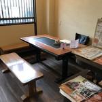 Takasagopankekichayapandowicchi - このテーブルでいただきました(2018.10.4)