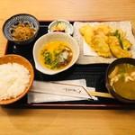 四ツ谷 ふく鶴 - とり天 玉おろしポン酢(900円)
