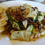 中国料理 桃仙 - 回鍋肉のアップ
