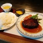 鉄板焼 ウチダ - 料理写真:ハンバーグランチセット。