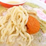 赤湯ラーメン 龍上海 - 2018年8月 麺はモチモチ~(´ᗨ`)