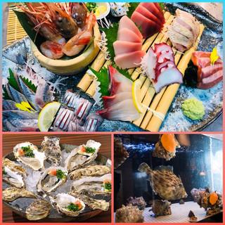 【いけす】【鮮魚】【牡蠣】
