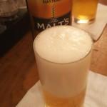 ねぎし - 瓶ビール。