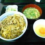 なか卯 - 和風牛丼セット