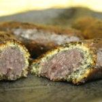 たつ吉 - 新商品の揚げ饅頭(胡麻)。香ばしい胡麻の風味が餡子の甘さとマッチして美味しい!