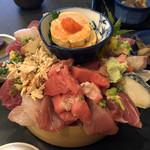 魚心亭 - おまかせ丼(あん肝」2200円)