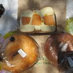 クローバーベーグルカフェ - 料理写真:ベーグル×2・ベーグルサンド