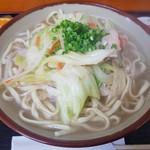 おかあさん - 野菜そば(大盛)