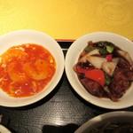 神田 天府 - エビチリ、酢豚