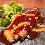 東京チャイニーズ 一凛 - 茨城県産スペアリブとワサビ菜