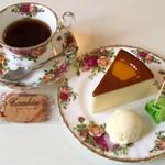 スイス菓子 ローヌ - 料理写真:ケーキセット