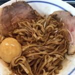 麺や 青雲志 - 秋刀魚まぜそばを混ぜてみた