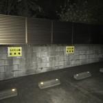 なかむら屋 - 駐車場観