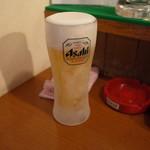 築地かねまさ - 生ビール