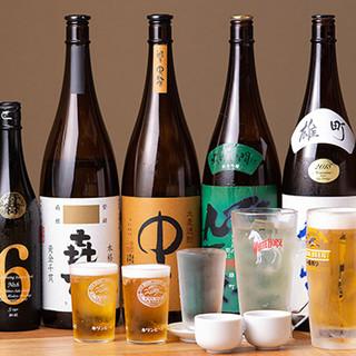 店主厳選◆くしやきにぴったりの日本酒が勢ぞろい!