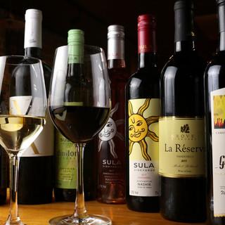 取り扱い数日本最多★インドワインがグラスから飲めます★