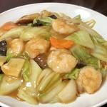 やきそば中華 龍 - 料理写真:エビ餡掛け焼きそば