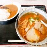 tokuichiban - 醤油ラーメン700円+ミニカレー150円