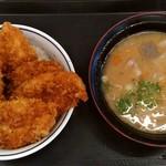 かつや - タレカツ丼松(ご飯大盛)+とん汁(大)