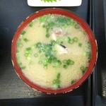 志摩の海鮮丼屋 - 大当たり(具アリ)のあら汁でした♪