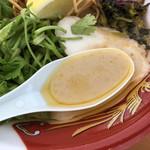 麺屋 サマー太陽 - 鶏とココナッツミルクのスープ(大つけ麺博2018)