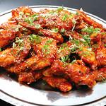 神戸クック ワールドビュッフェ - 『ヤンニョムチキン』 甘辛いタレをからめてジューシーな鶏肉♪