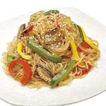 神戸クック ワールドビュッフェ - 『冷製チャプチェ』 ごま油の風味が食欲をそそる♪