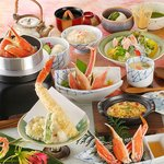 かに道楽 - お昼の会席はゆっくり午後4時まで「錦の舞」4,320円