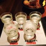 どて家 - 日本酒飲み比べ