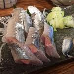 磯吉 - 半焼き半刺しの秋刀魚