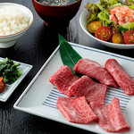 焼肉チャンピオン - おまかせ3種赤身御膳