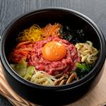 焼肉チャンピオン - 石焼きユッケビビンバ