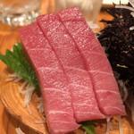 防波亭 - 料理写真:浜盛り3種 820円(中トロ)