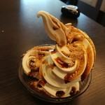 しゃぶ葉 - あんこ+ソフトクリーム+黒蜜+きな粉