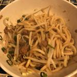 立吉餃子 - 熟成肉味噌油そばのアップ