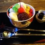 シルクロード - 料理写真:白玉、アイス、あんこをチョイス