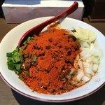 Seikouudoku - 料理写真:ピリ辛肉みそまぜそば 辛口 ニンニク ¥850