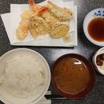 こじま食堂 - 2018年9月 天ぷら定食 1400円
