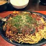 常盤屋べんべん - Aセット麺大盛り
