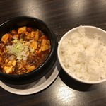 點點心 - いつものチョイ辛麻婆豆腐&ご飯