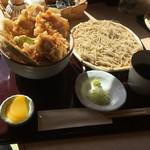 武柳庵 - 鶏天丼と小そばセット