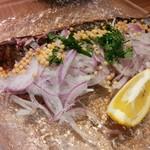 和酒菜 なかがわ - カツオのタタキ 美味すぎてビックリするよ゚+。:.゚(*゚Д゚*)゚.:。+゚