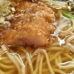 万世麺店 - ハーフ排骨