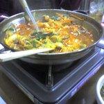 家庭食房 アリラン - 食べかけでごめんなさい。ホルモン鍋。