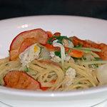 リストランテ・ヒロ チェントロ 丸ビル店 - 焼タラバ蟹と京野菜のスパゲッティーニ